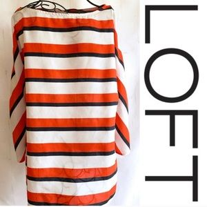 SALE🎉🎉LOFT Blouse, Medium, Red, Navy, & White